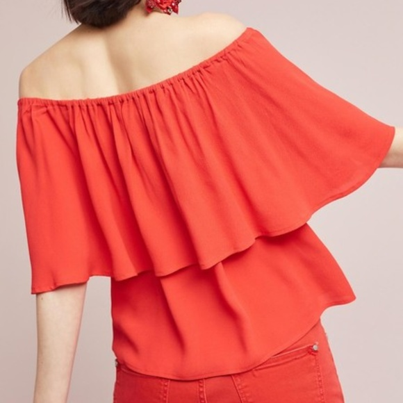 Holding Horses Maya Top Red Anthropologie S